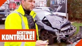 Totalschaden! Abschleppdienst muss Schrottauto abtransportieren! | Achtung Kontrolle | Kabel Eins