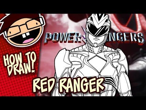 How to Draw RED RANGER (Power Rangers [2017] Movie) | Narrated Easy Step-by-Step Tutorial