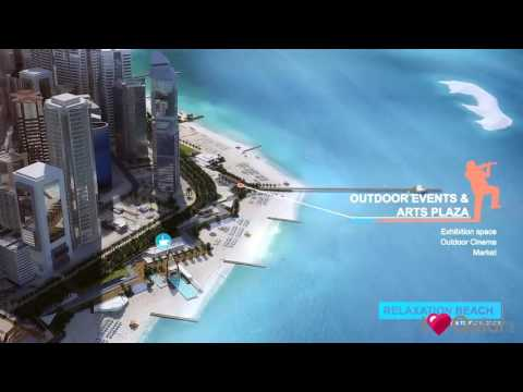 New Doha Diplomatic Area Beachfront Masterplan - Concept