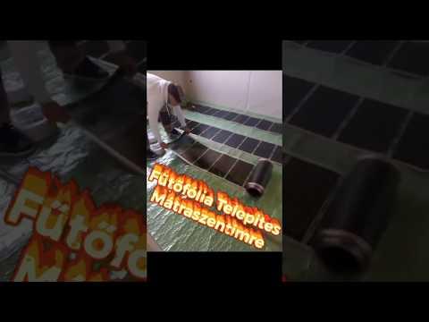 Infra padlófűtés telepítés