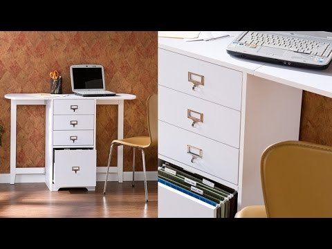 Sei White Fold Out Filing Organizer And Craft Desk For A