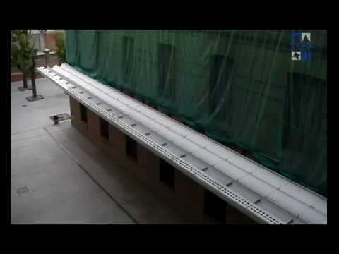 Toldo plano grandes dimensiones para cubrir patios de for Tordos para patios