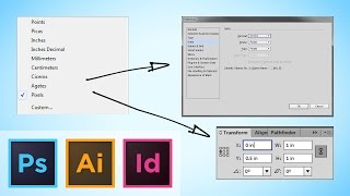 Adobe CS Tutorial, Quickly Swicthing Your Ruler Units