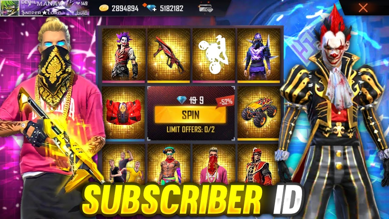 Buying 11000 Diamonds, Rare Bundles & Emotes From Lucky Event In Subscriber Account Garena Free Fire