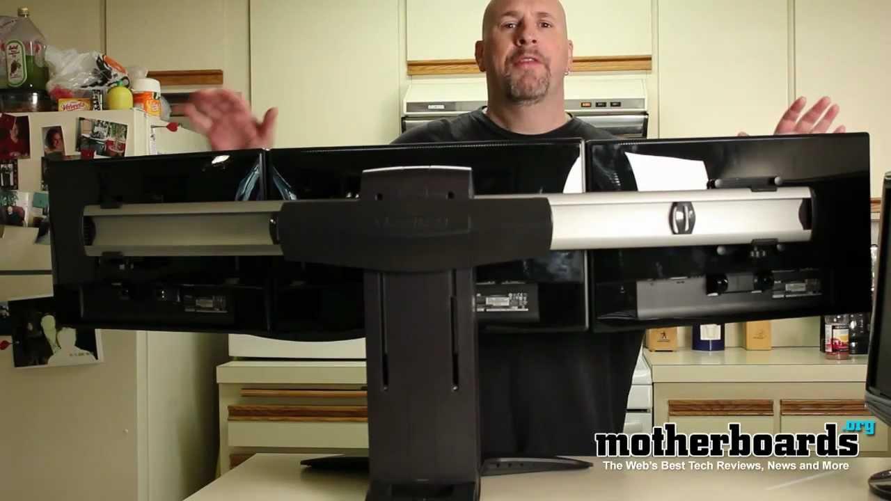 ergotron lx triple monitor stand setup 3 asus ve205t 20 monitors