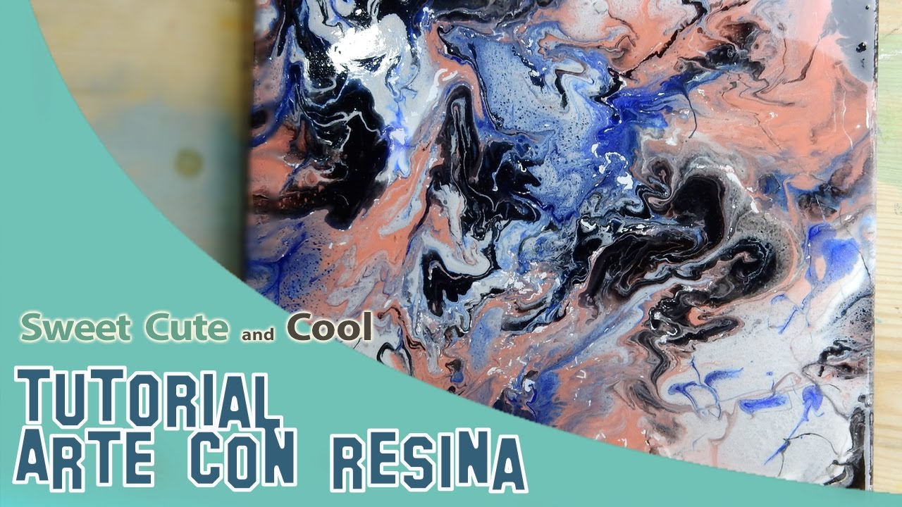 C mo pintar con resina arte abstracto muuuy f cil youtube - Pintura de resina ...