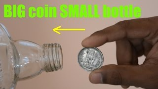 Unbelievable Impossible Magic Revealed | BIG Coin in SMALL Glass Bottle | Magic in Indiale
