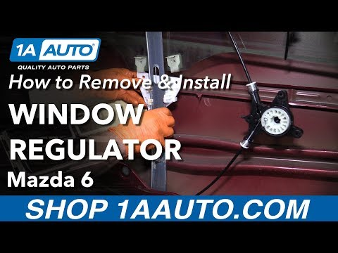 How to Replace Front Window Regulator 03-07 Mazda 6