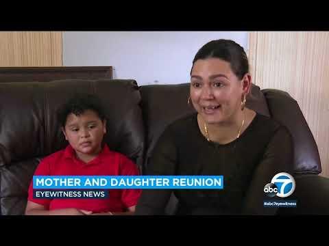 0 - بعد غياب 6 سنوات .. أم تلتقي بابنتها بعد أن رأتها تعبر الحدود الأمريكية بمفردها في تقرير تلفزيوني