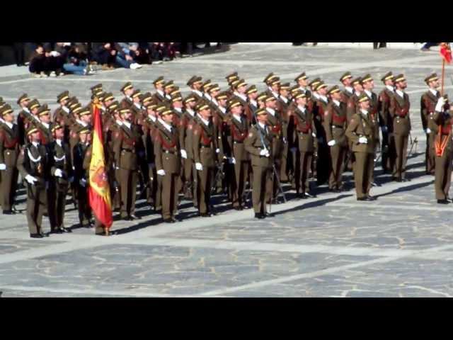 Himno de Infantería. Academia Infantería Toledo. Día de La Patrona (8.12.2013)