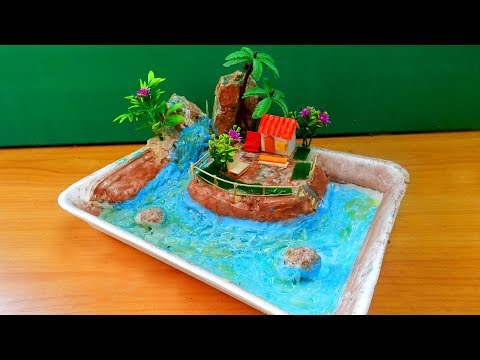 How To Make A Miniature Island In Ocean Zen Garden #15 | Easy Fun Crafts