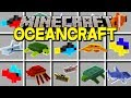 Minecraft OCEANCRAFT MOD! | 50+ NEW SHARKS, WHALES, FISH, & MORE! | Modded Mini-Game