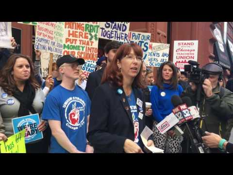 Progress Illinois: UNO Charter Teachers Rally For A 'Fair Contract'