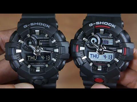 CASIO G - SHOCK GA-700-1B VS G-SHOCK GA-700-1A