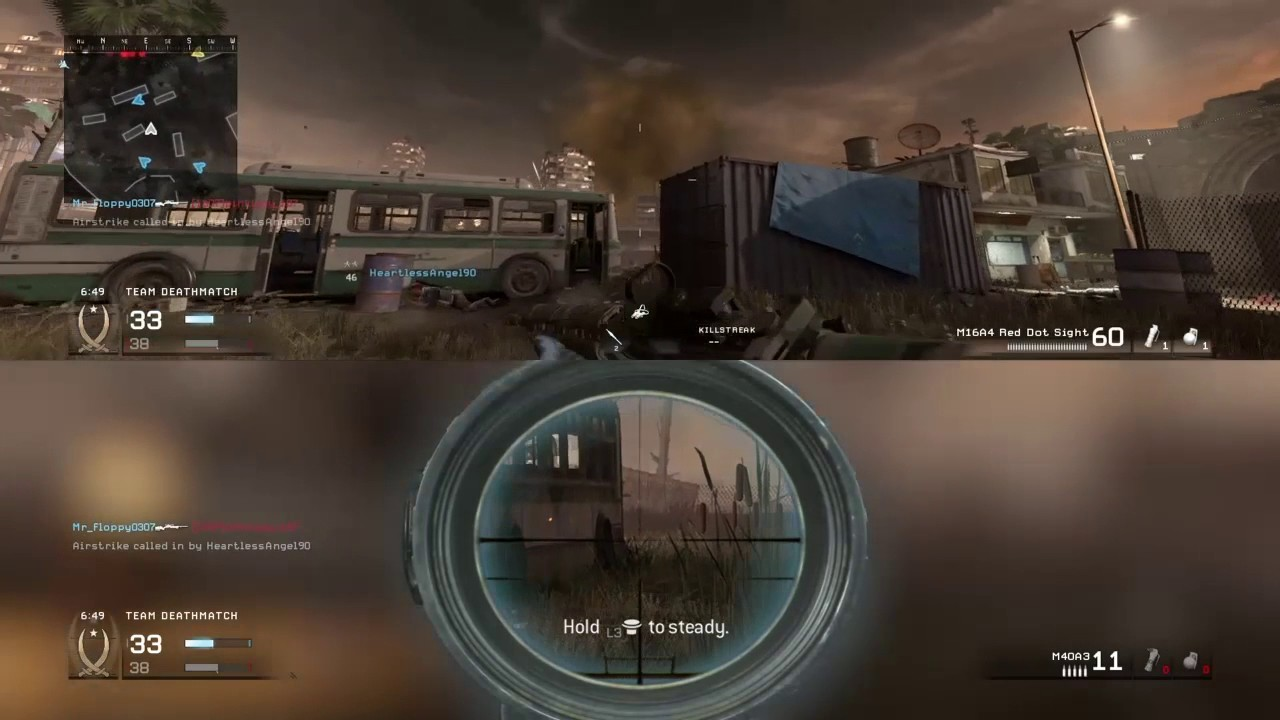 Call Of Duty Modern Warfare Remastered Splitscreen Multiplayer Dual Commentary Youtube