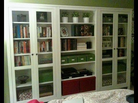 white bookshelf with glass doors - White Bookshelf With Glass Doors - YouTube