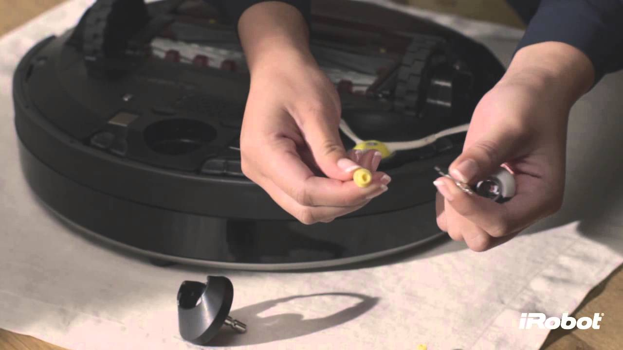 Irobot Roomba 800 Series How To Clean Front Caster Wheel