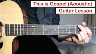 Panic At The Disco This Is Gospel Guitar Lesson Tutorial Acoustic Version