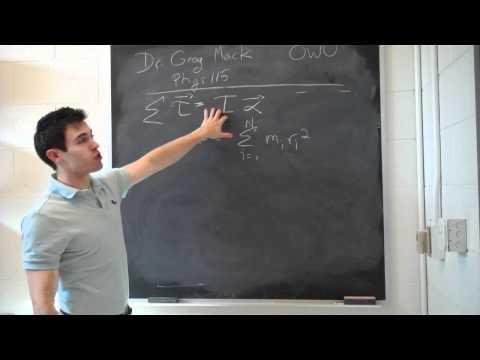Torque, angular acceleration, and moment of inertia