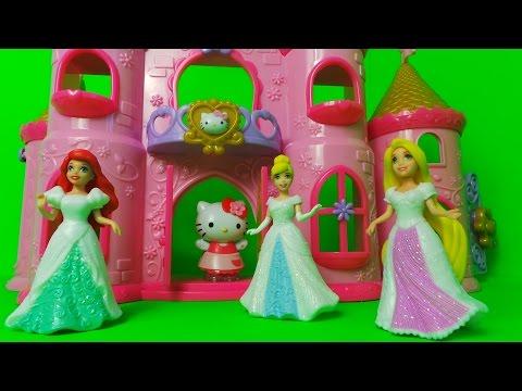 disney-fairytale-wedding-collection-of-magi-clip-dresses,-rapunzel,-cinderella,-ariel