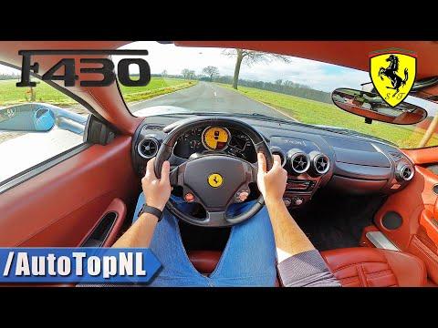 FERRARI F430 4.3 V8 8500RPM POV Test Drive by AutoTopNL