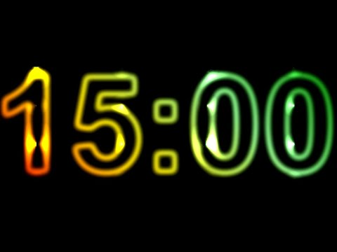 15 Minute Timer Countdown ⏱️ 15 Minute Timer with Alarm No Music
