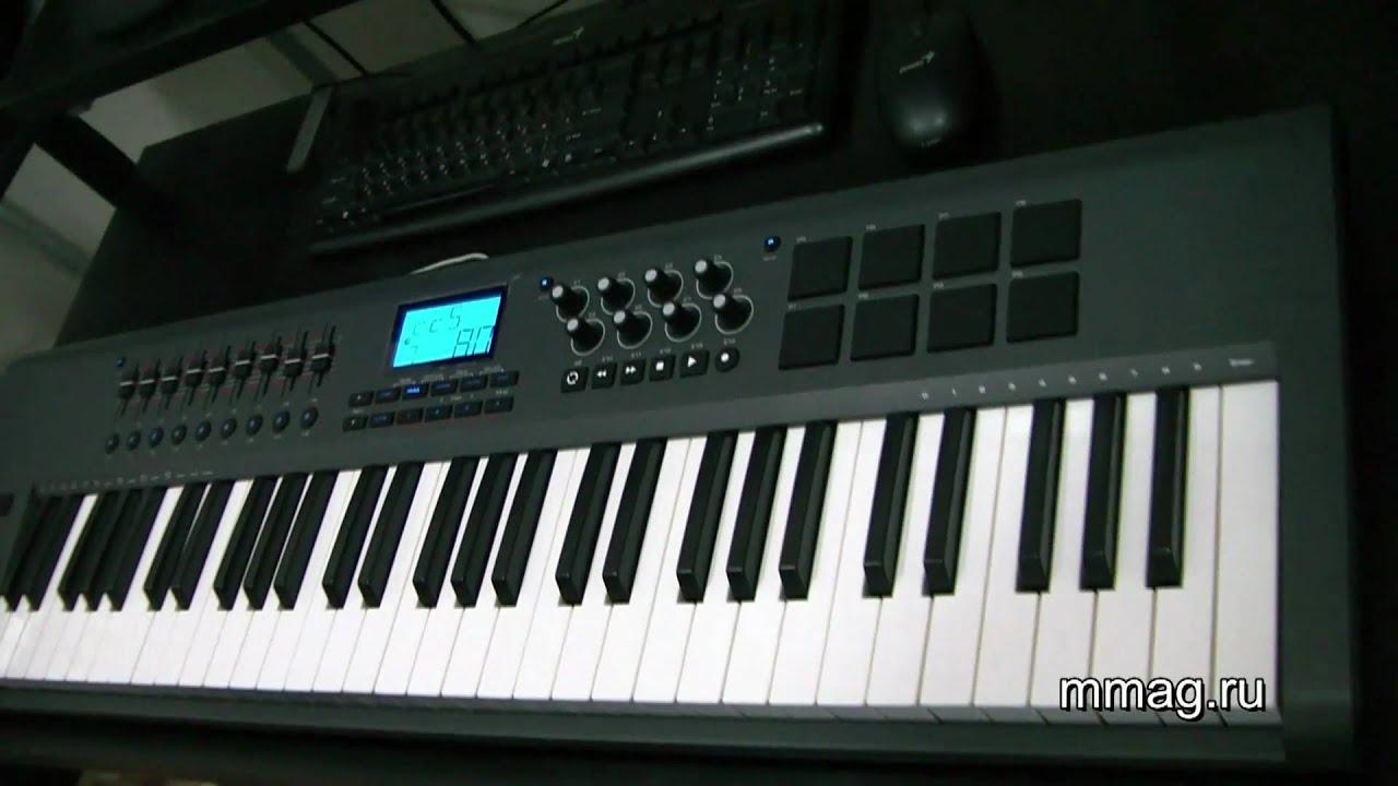 m audio axiom mark ii 61 midi keyboard video review youtube. Black Bedroom Furniture Sets. Home Design Ideas