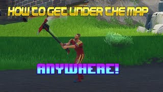 *NEW* GLITCH! HOW TO GO UNDER THE MAP ANYWHERE! *GODMODE* - Fortnite