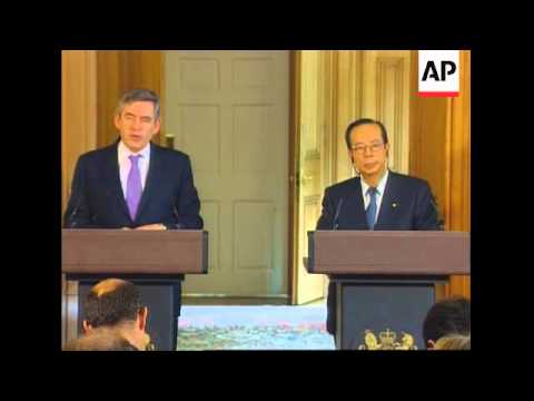 Japanese PM Fukuda meets UK PM Brown