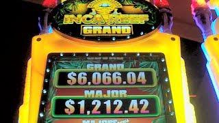 NEW SLOT - Inca Reef Grand - FIRST LOOK Las Vegas Slots Machine Win