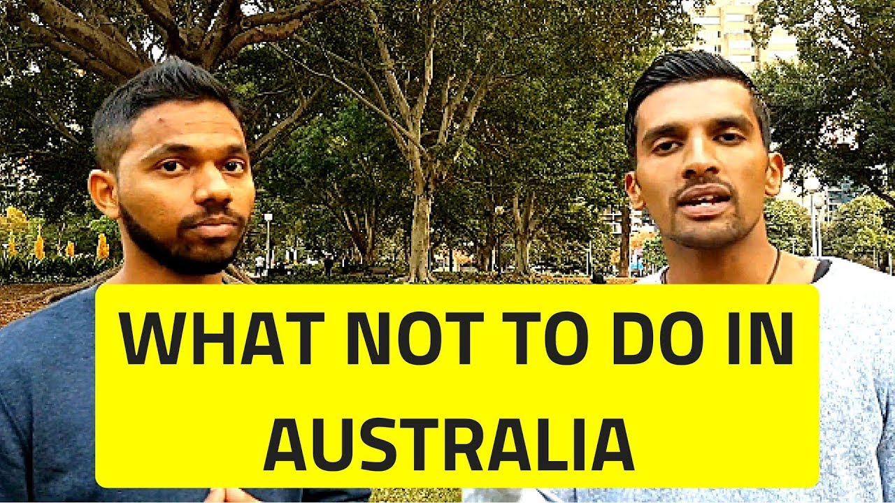 What not to do in Australia