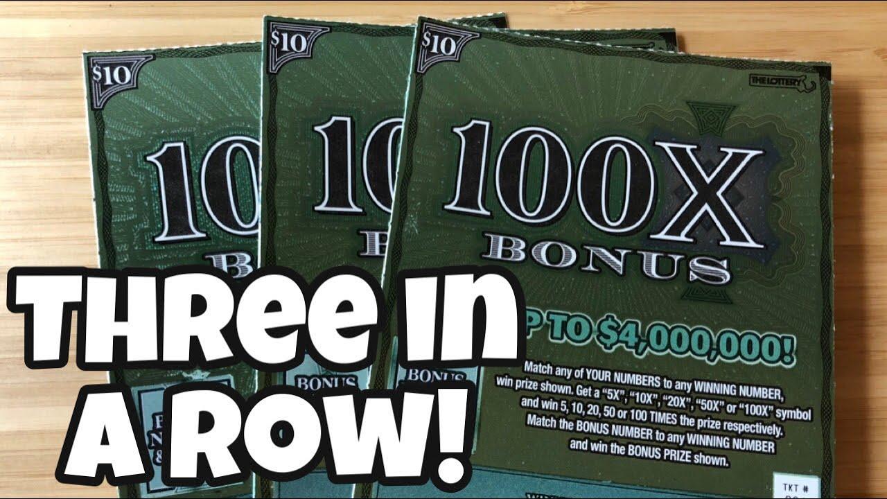 3 x $10 ~ 100X Bonus [Massachusetts Lottery]