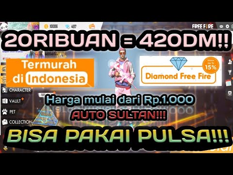 PULSA SERIBU SAJA DAPAT DIAMOND?!! AUTO SULTAN!!! || TRIK DIAMOND MURAH || FREE FIRE BATTLEGROUND