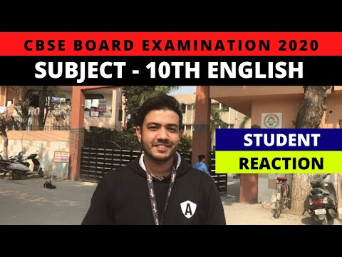 CBSE Board Exam 2020   Class 10th English   Live Student Reactions