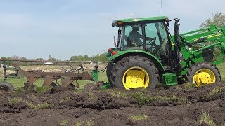 Deere 5075e Oliver 3 16 Plow Plowing Sod For Sweet Corn Patch