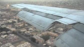 Iran Aseman B727-200 Landing at Dubai - Window View