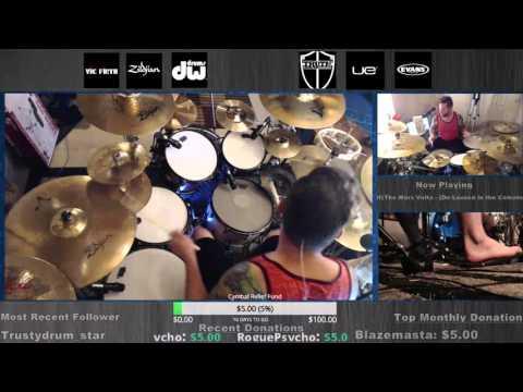 The Mars Volta - De-Loused in the Comatorium DRUMS FULL ALBUM live on twitch.tv/danwind86