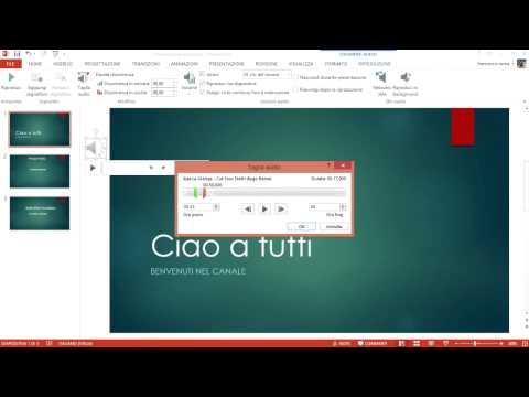 Aggiungere Musica in PowerPoint - Video Guida