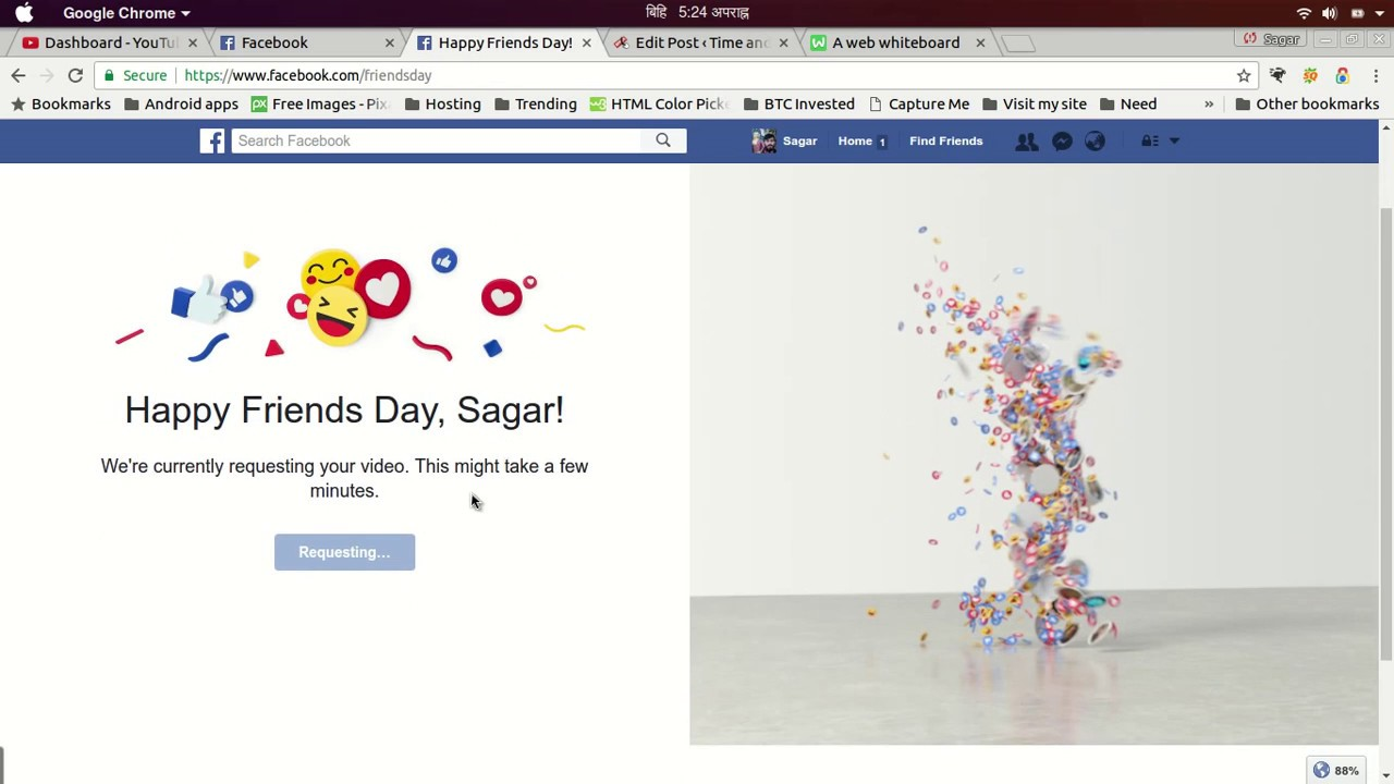 How To Make Facebook Friends Day Video Facebook Birthday Youtube
