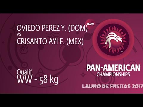 Qual. WW - 58 kg: Y. OVIEDO PEREZ (DOM) df. F. CRISANTO AYI (MEX) by TF, 10-0