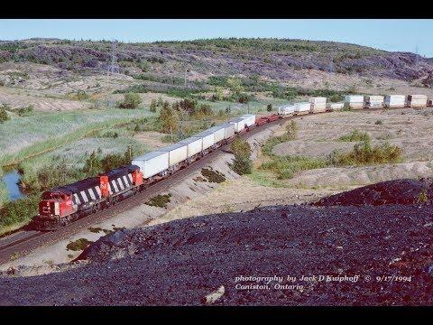 CN CP VIA, Action On Coniston Diamond,  Near Sudbury In Northern Ontario. September 1993 1994