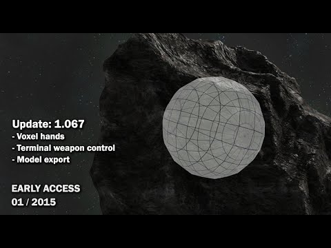 Space Engineers - Update 01 067: Voxel hands, Terminal weapon control