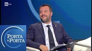 Salvini sulla manovra da 32 miliardi di Confindustria - Porta a Porta 22/05/2019