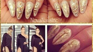 TUTORIAL: Uñas Acrilicas de Jennifer Lopez en Los Grammy's 2013 ♥