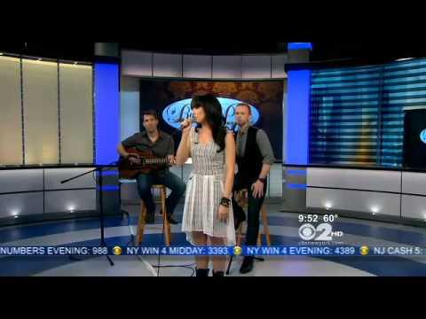 Rachel Potter CBS New York sings her new song