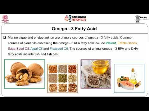 Omega 3 and Omega 6 Fatty acids