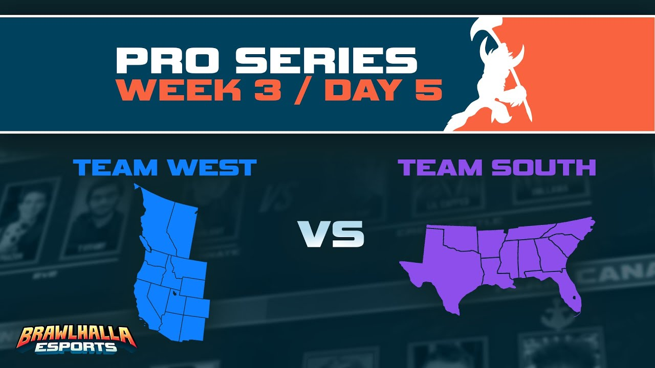 Brawlhalla North American Pro Series - Day 5 - West vs South