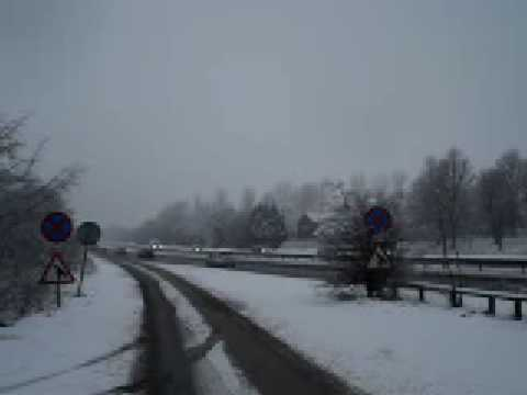 Slow traffic on the A40, Wheatley, Oxfordshire