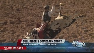 Bull rider escapes near-death experience, only to ride again