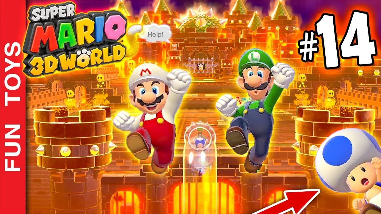 Super Mario 3d World #14 - Chegamos no MUNDO 7! Mas ele tem OUTRO NOME!!! Como assim? O chão é LAVA!